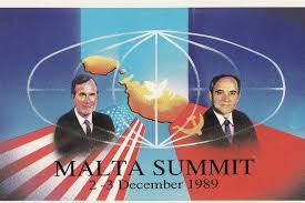Afisul Conferintei de la Malta 1989