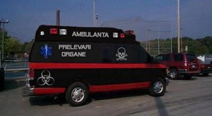 ambulanta neagra care fura copii pentru organe