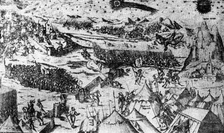 cometa bizara la Targoviste pe timpul lui Mihai Viteazul