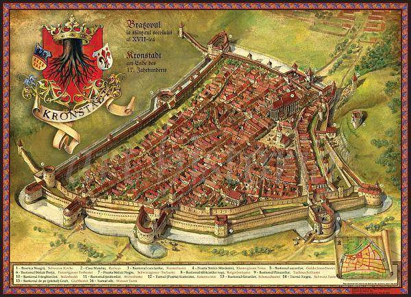 cetatea brasovului harta