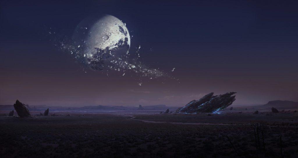 distrugerea Lunii in 3010