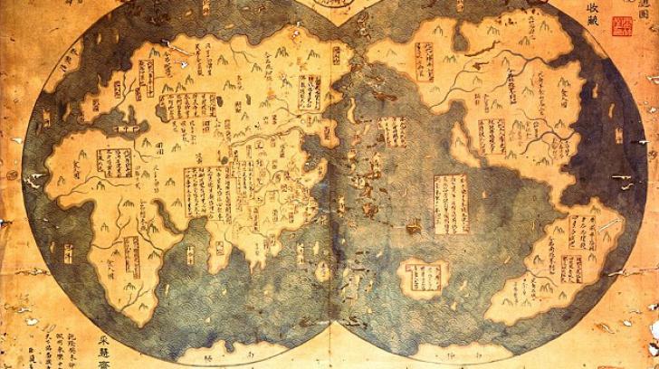 harta chineza ce atesta descoperirea americii