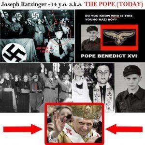 papa benedict xvi nazist